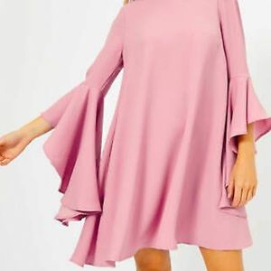 waterfall sleeve on or off shoulder dusty rose